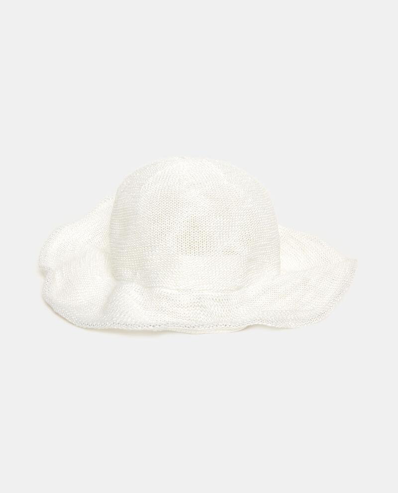 Cappello morbido in tinta unita bianca donna