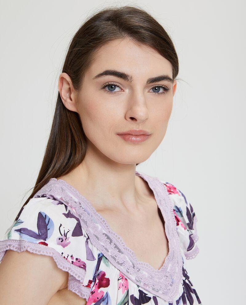 Camicia da notte con fantasia floreale