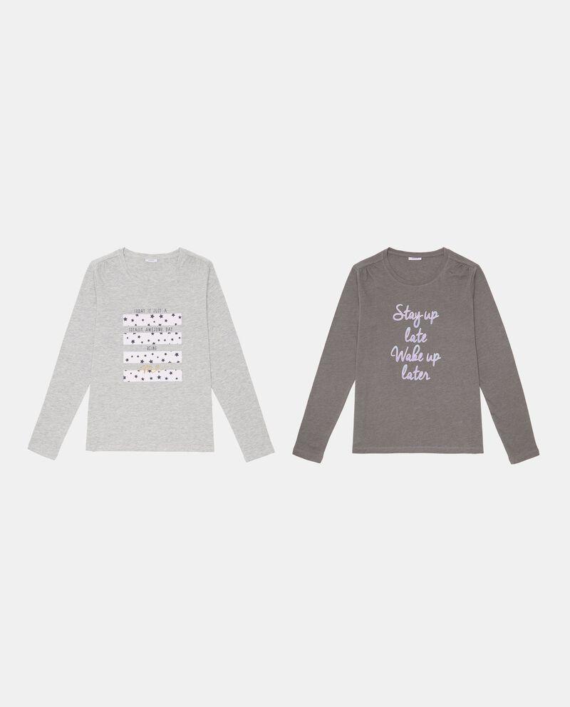 Set due maglie pigiama lettering