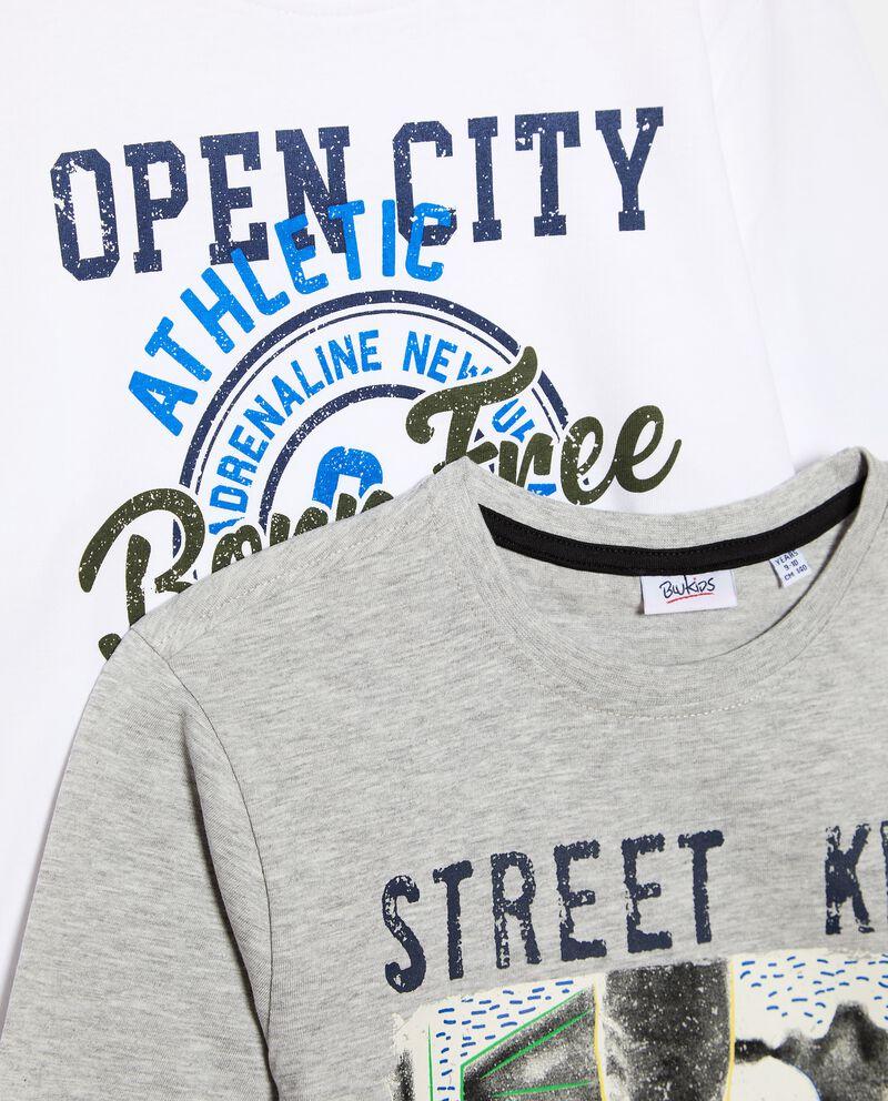 Set con 2 t-shirt di cotone biologico ragazzodouble bordered 1