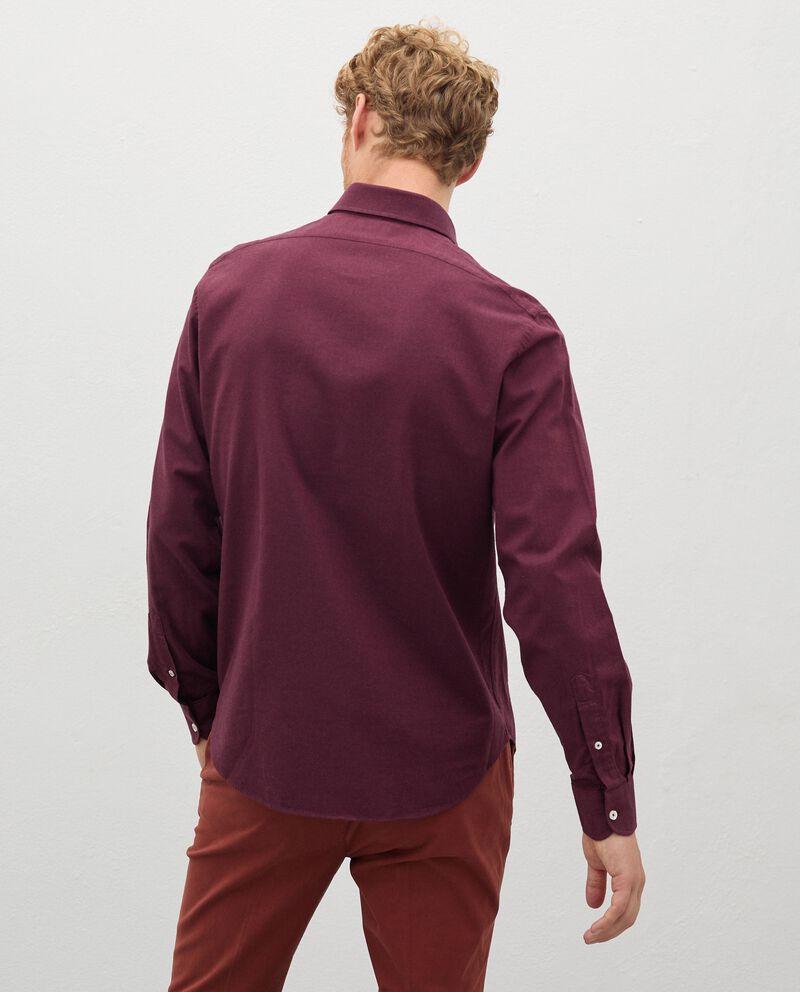 Camicia in flanella tinta unita uomo single tile 1