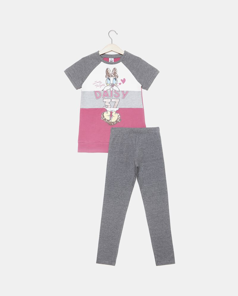 Set jogging t-shirt e leggings bambina