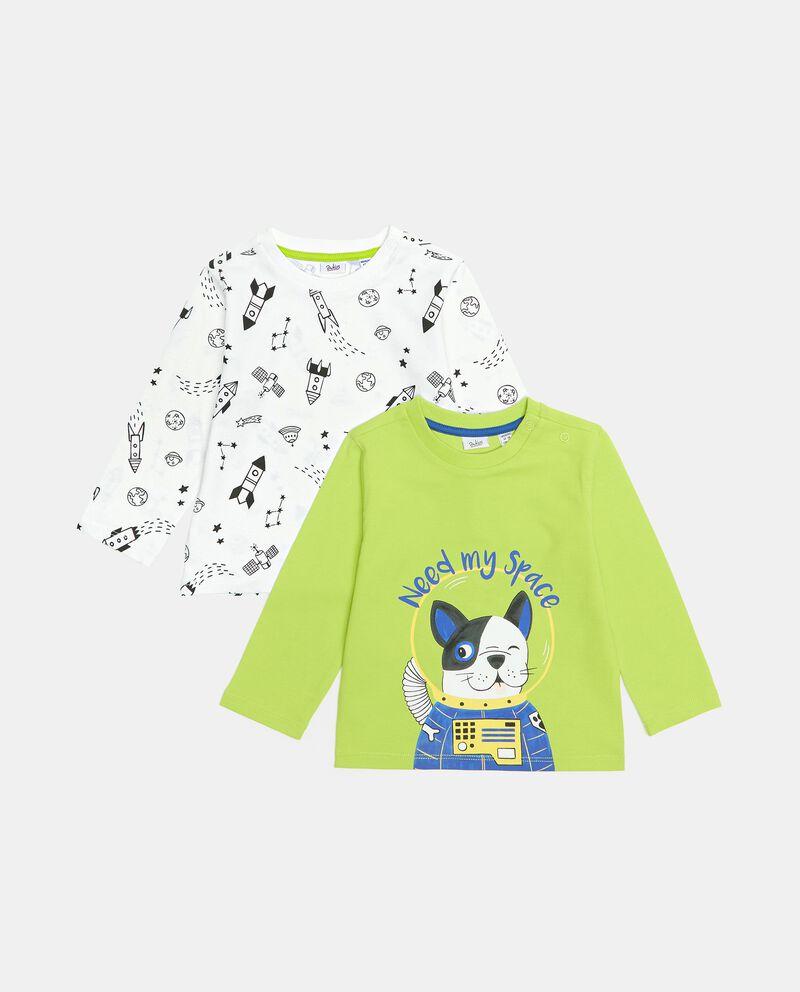 Pack con 2 t-shirt di cotone organico neonato cover