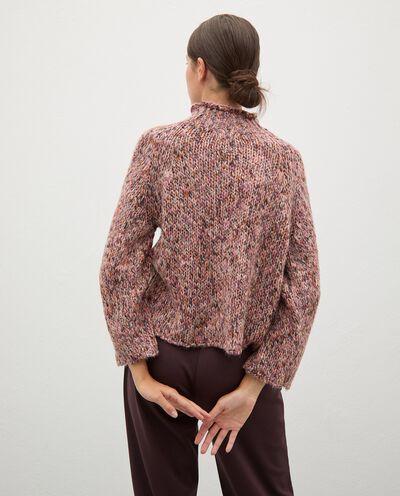 Maglione tricot knitwear con collo alto donna detail 1