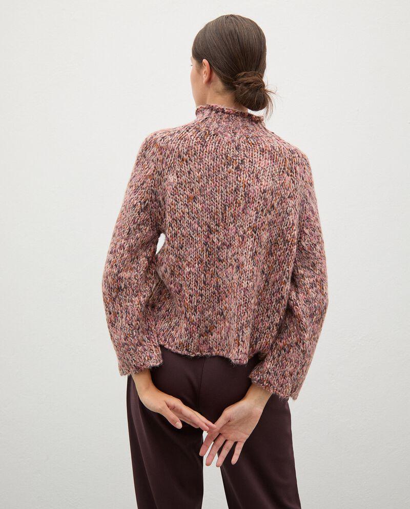 Maglione tricot knitwear con collo alto donna single tile 1
