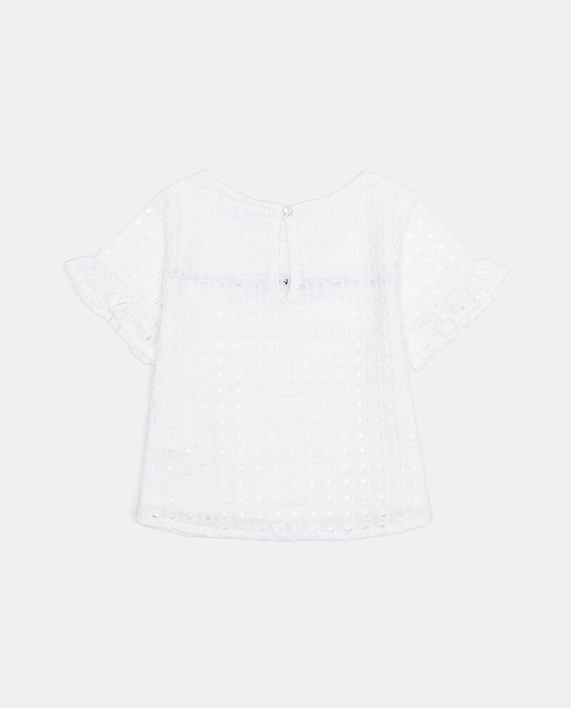 T-shirt traforata con laccetto