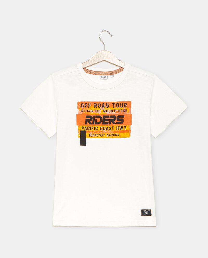 T-shirt in jersey cotone organico lavaggio stone ragazzo cover