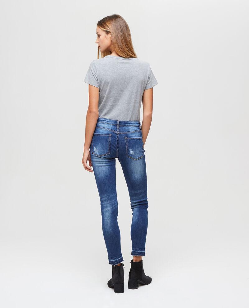 Jeans skinny fit con strappi