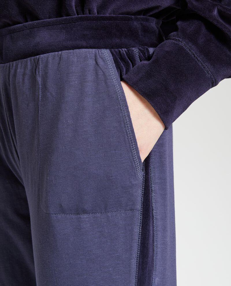 Pantaloni pigiama con bande donna
