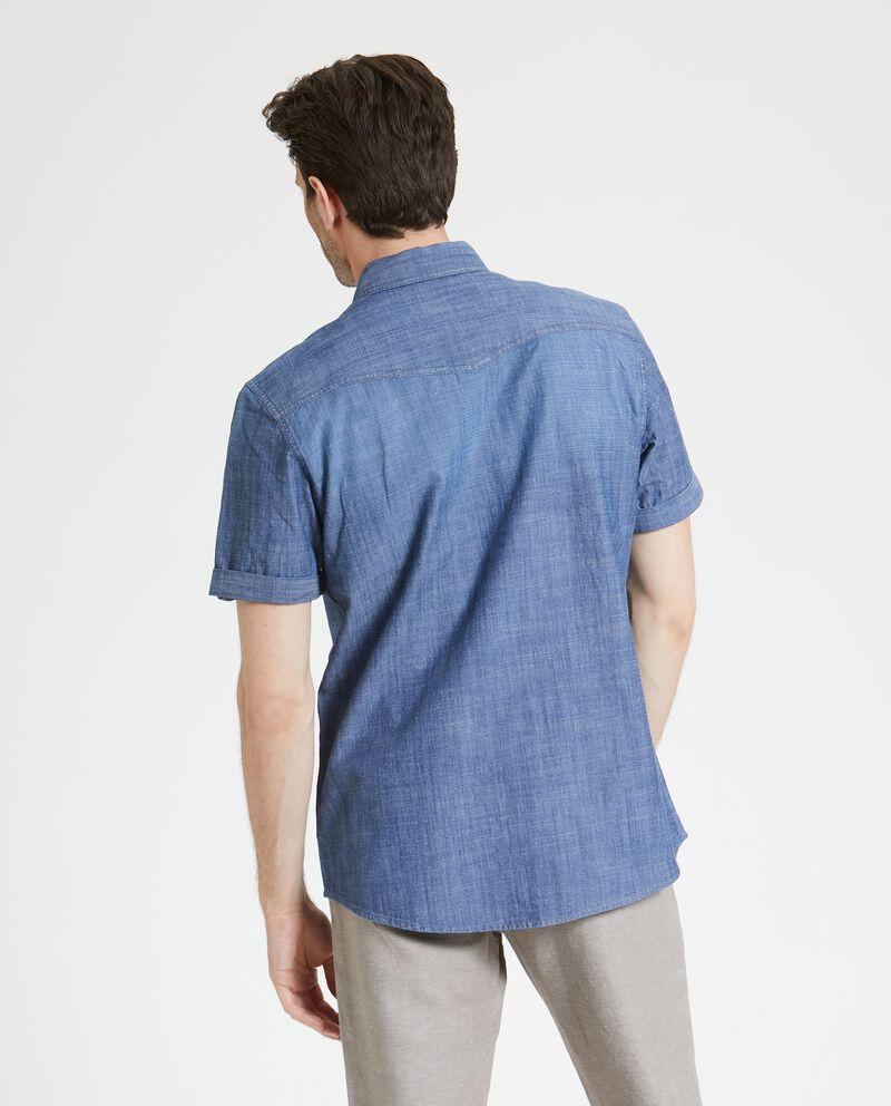 Camicia puro cotone effetto denim uomo