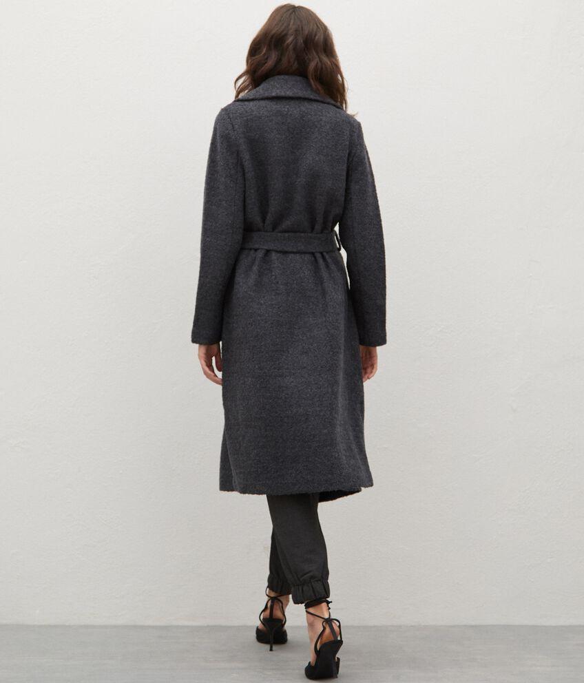 Cappotto in misto lana con cintura donna double 2