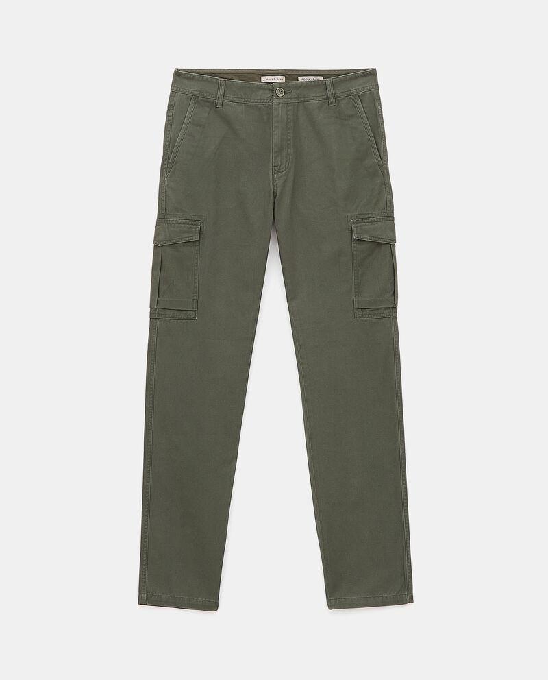Pantaloni cargo di puro cotone uomo cover