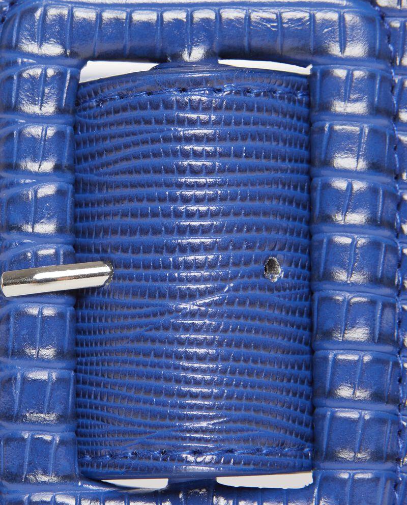 Cintura blu con effetto pitonato donna