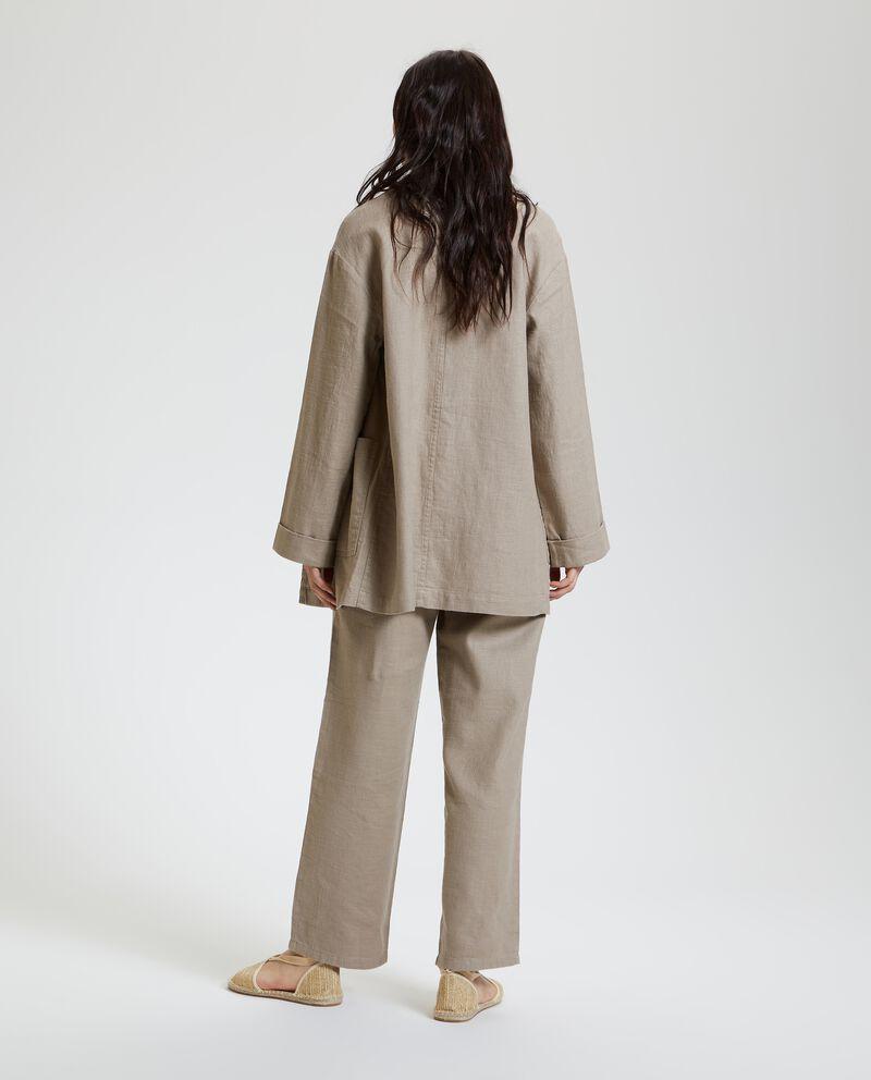 Giacca in cotone misto lino donna