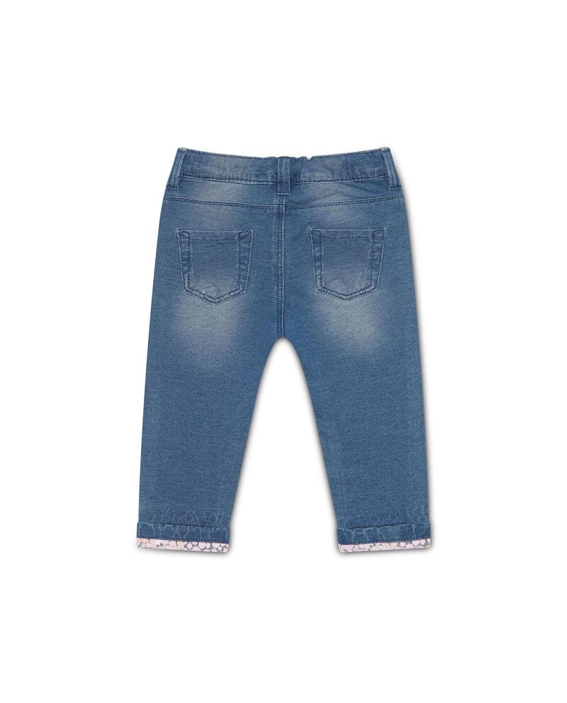Jeans stretch con bande a contrasto