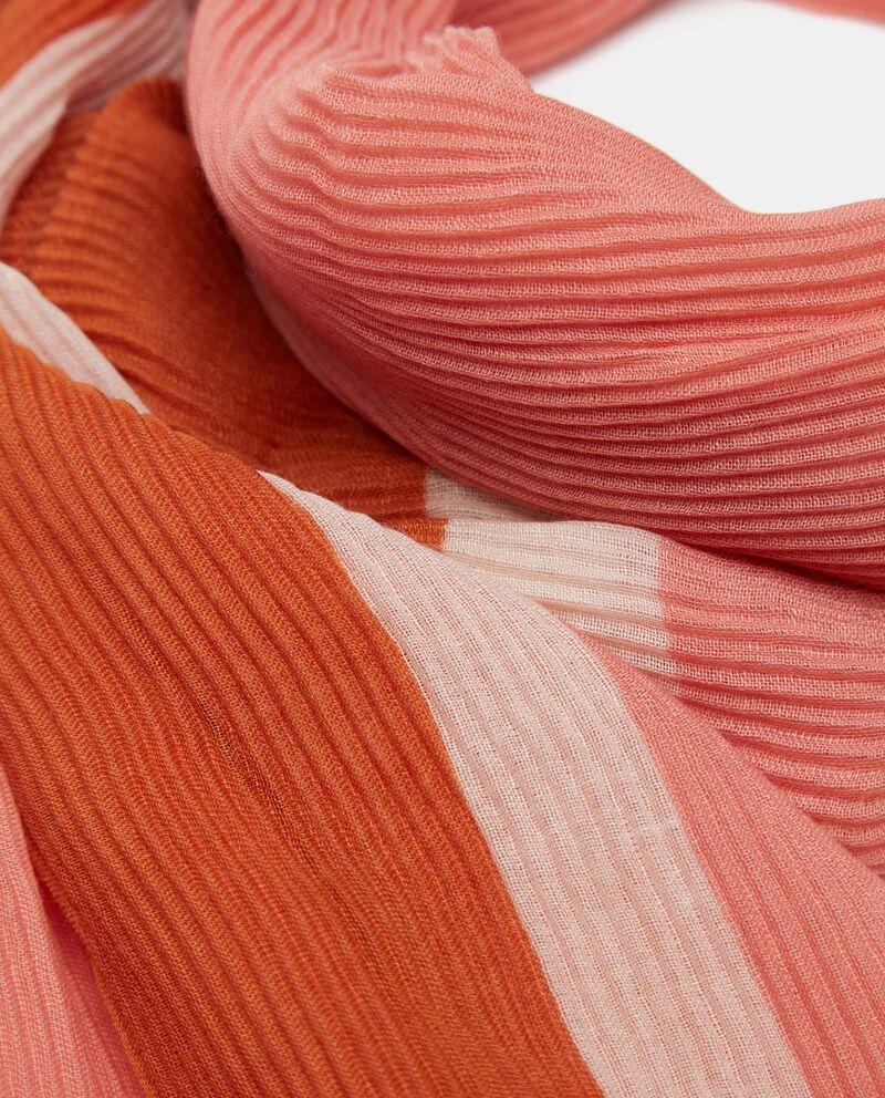 Sciarpa plissé bicolore donna