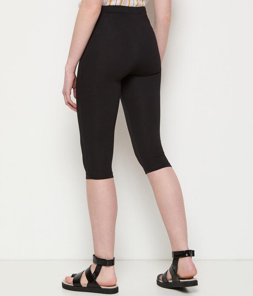Leggings capri in cotone stretch donna