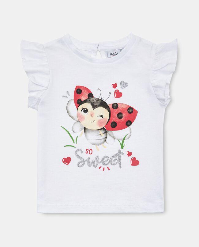 T-shirt in cotone organico jersey neonata