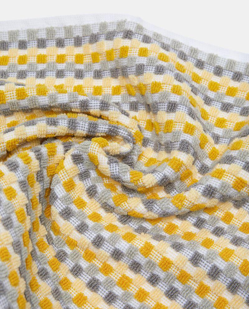 Asciugamano ospite con micro quadretti in puro cotone