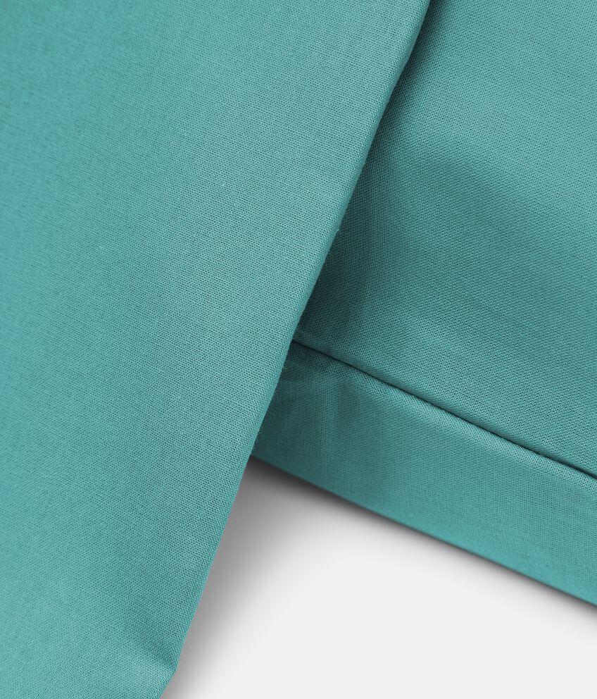 Parure lenzuolo tinta unita di puro cotone double 2