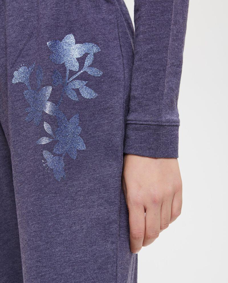 Pantaloni pigiama stampa floreale