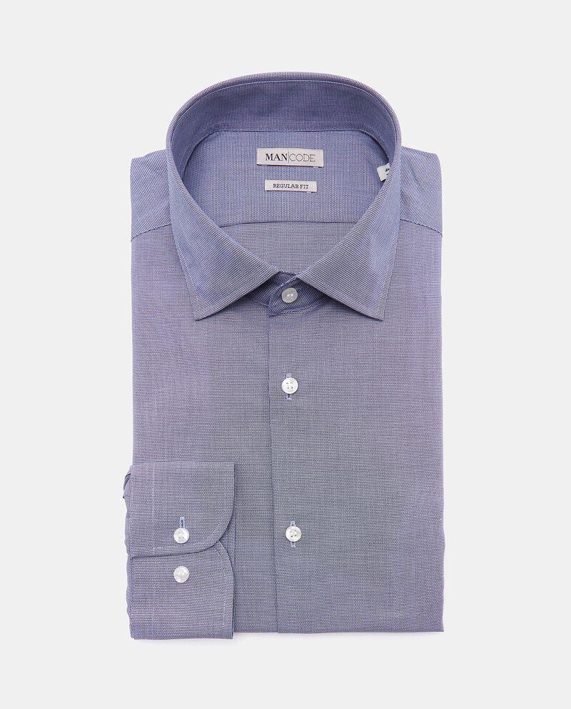 Camicia business a micro quadri regular fit uomo