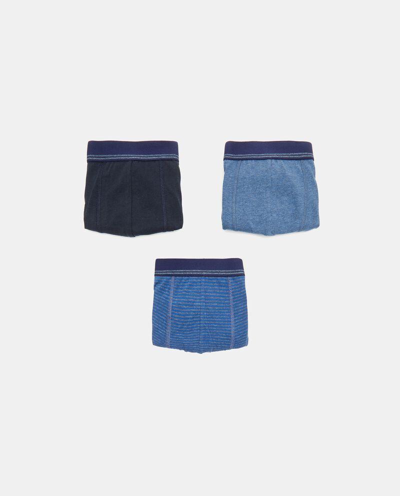 Set con 3 boxer in cotone elasticizzato uomo