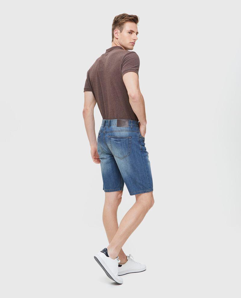Bermuda jeans in puro cotone uomo