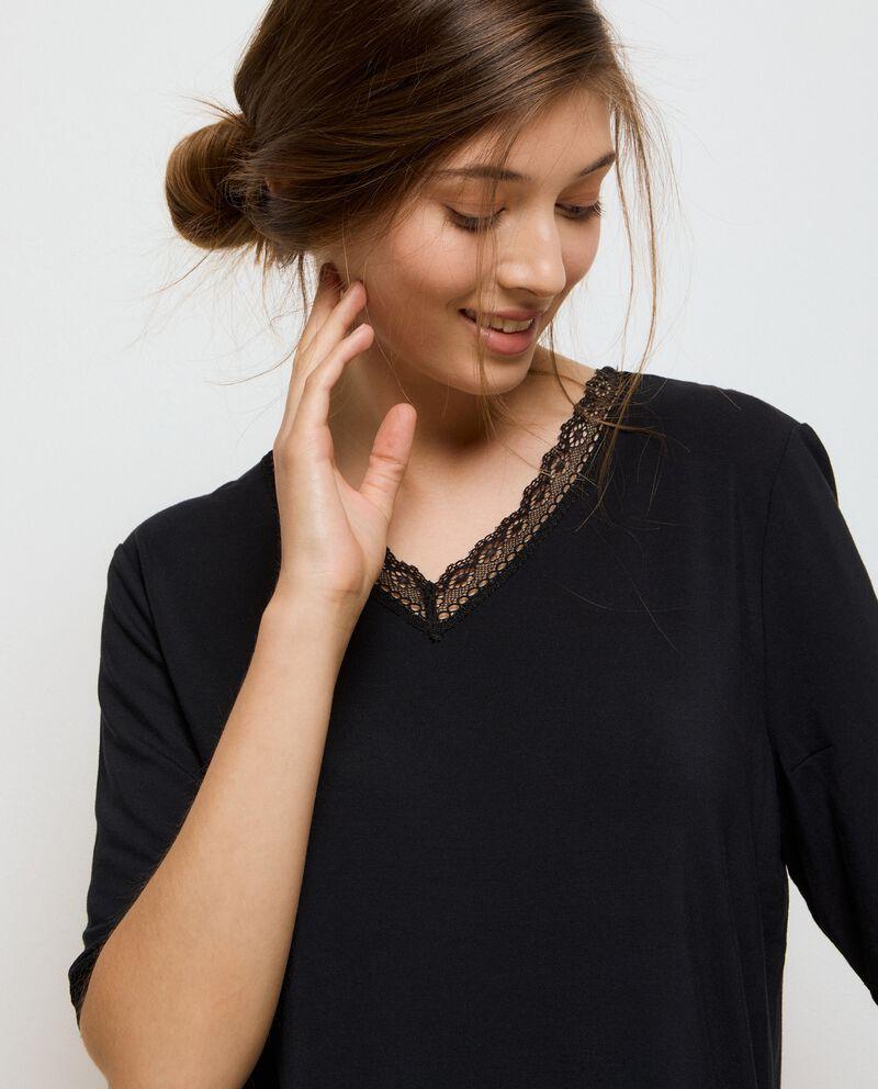 Maglia pigiama in modal stretch donna single tile 2