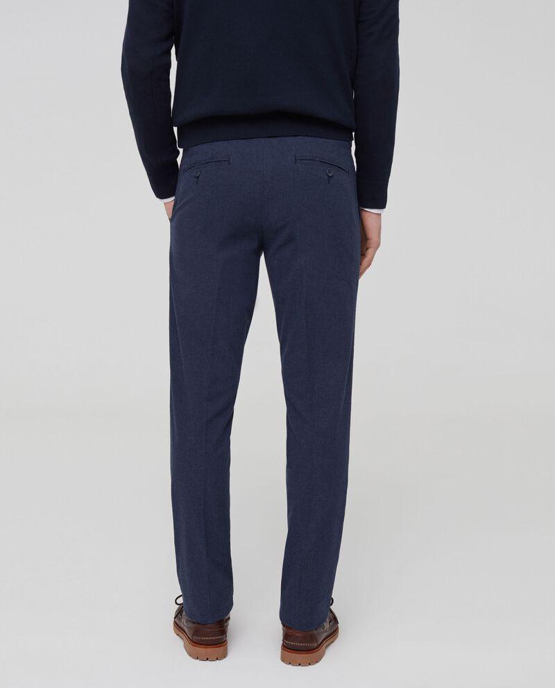 Pantaloni in cotone stretch effetto denim