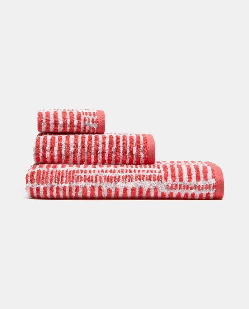 Asciugamano ospite a righine in puro cotonedouble bordered 0