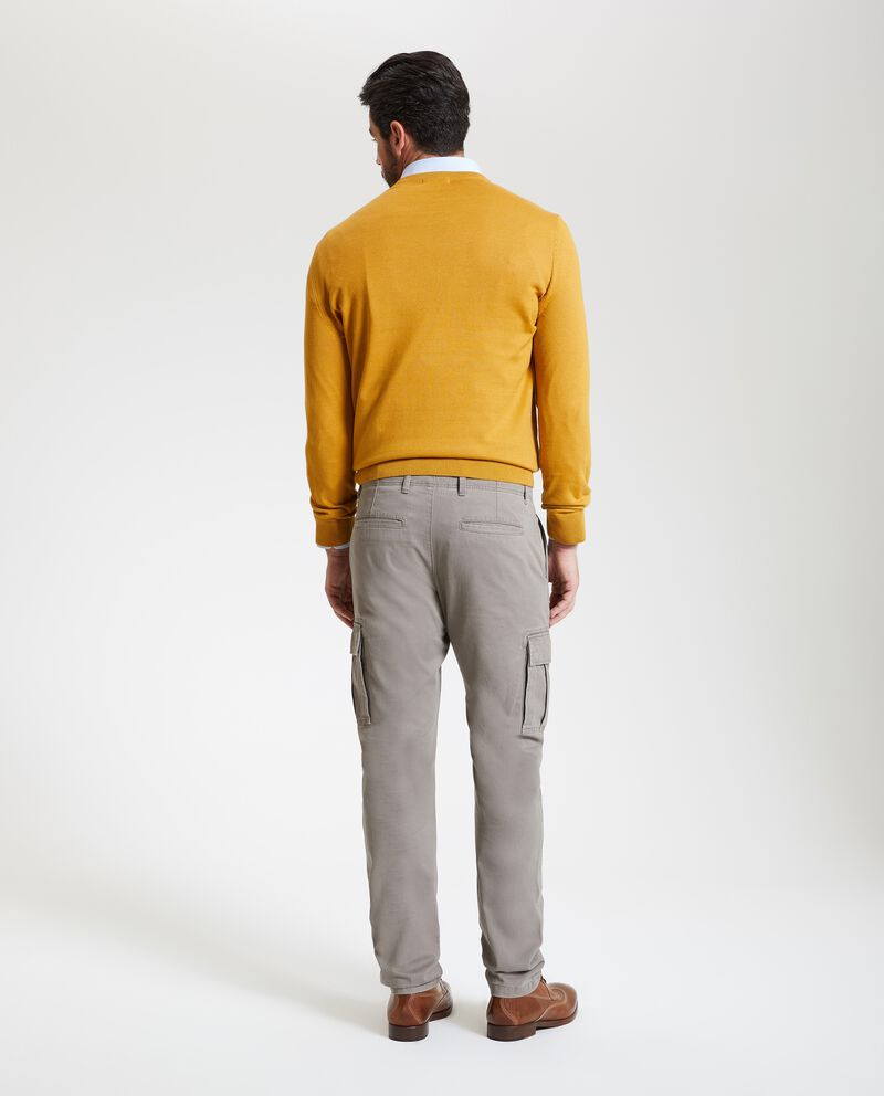 Pantaloni in tinta unita cargo uomo