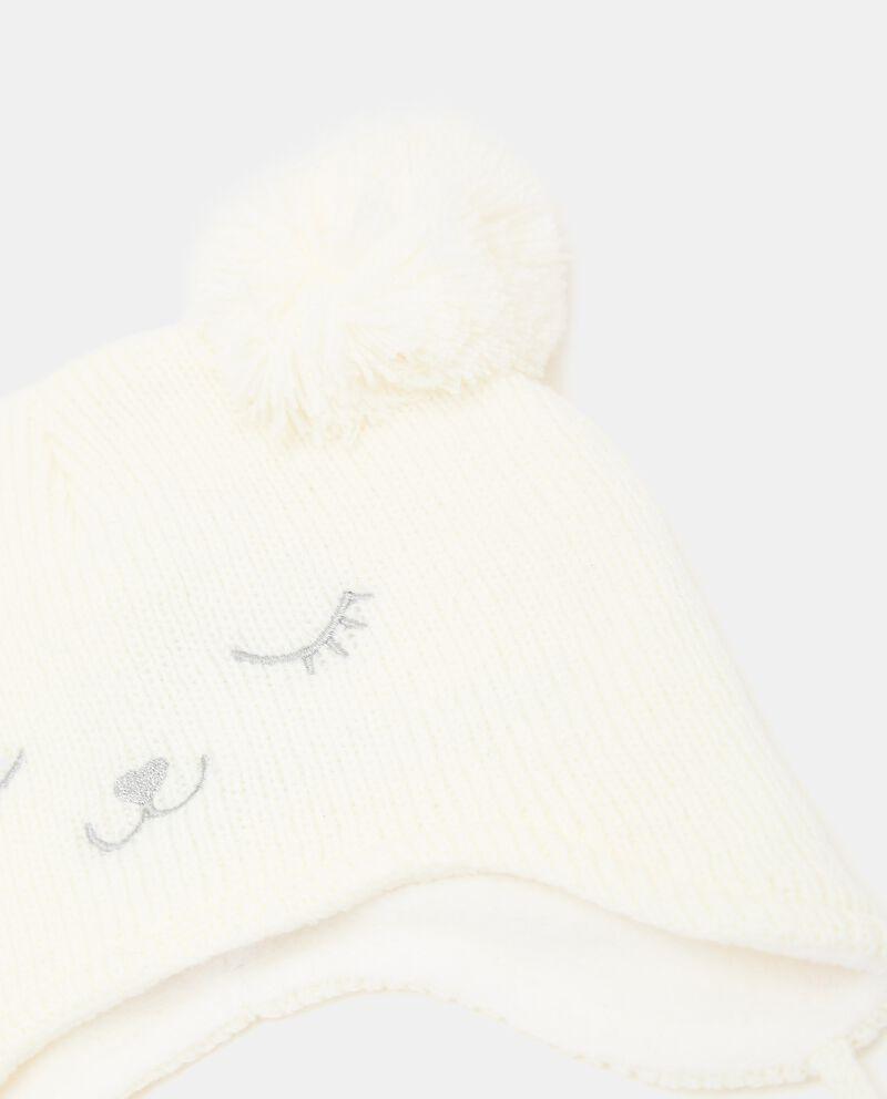 Berretto tricot con pon pon neonata single tile 1