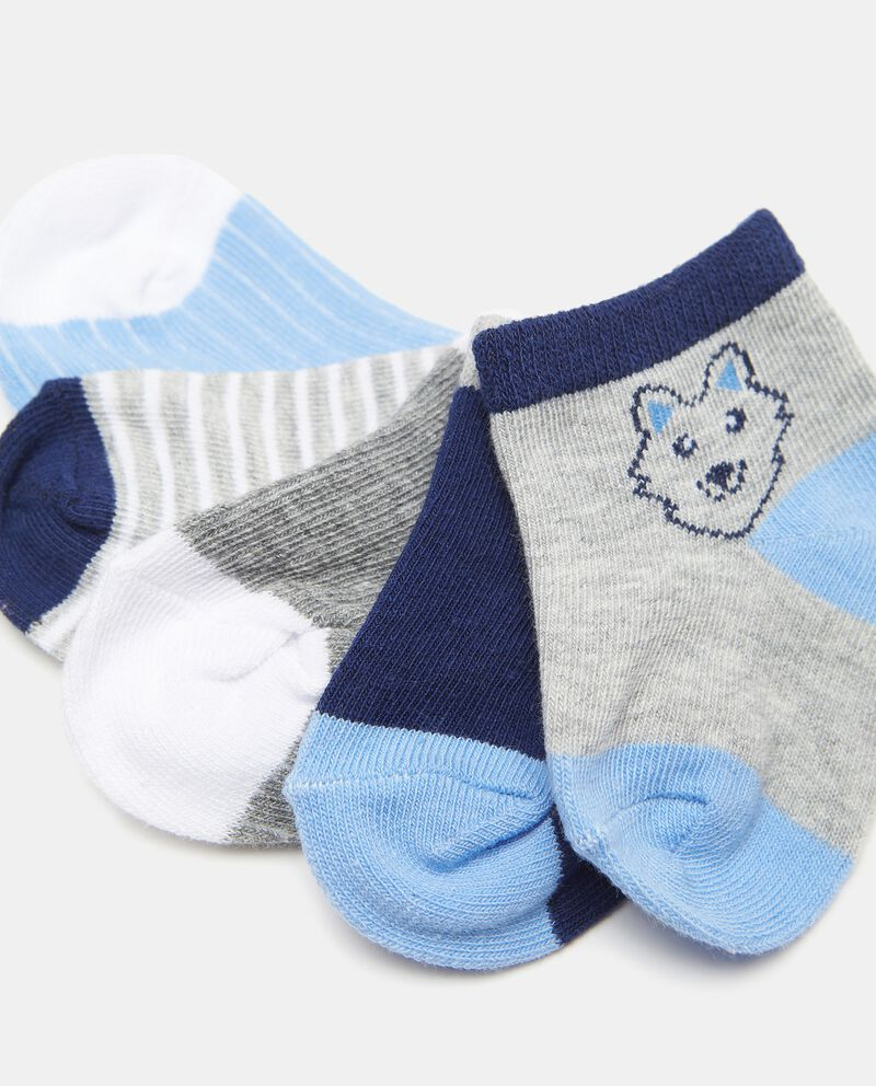 Set di 5 paia di calzini di cotone organico neonatodouble bordered 1