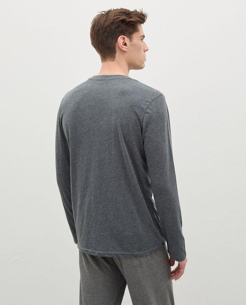 Maglia del pigiama in cotone uomo single tile 1