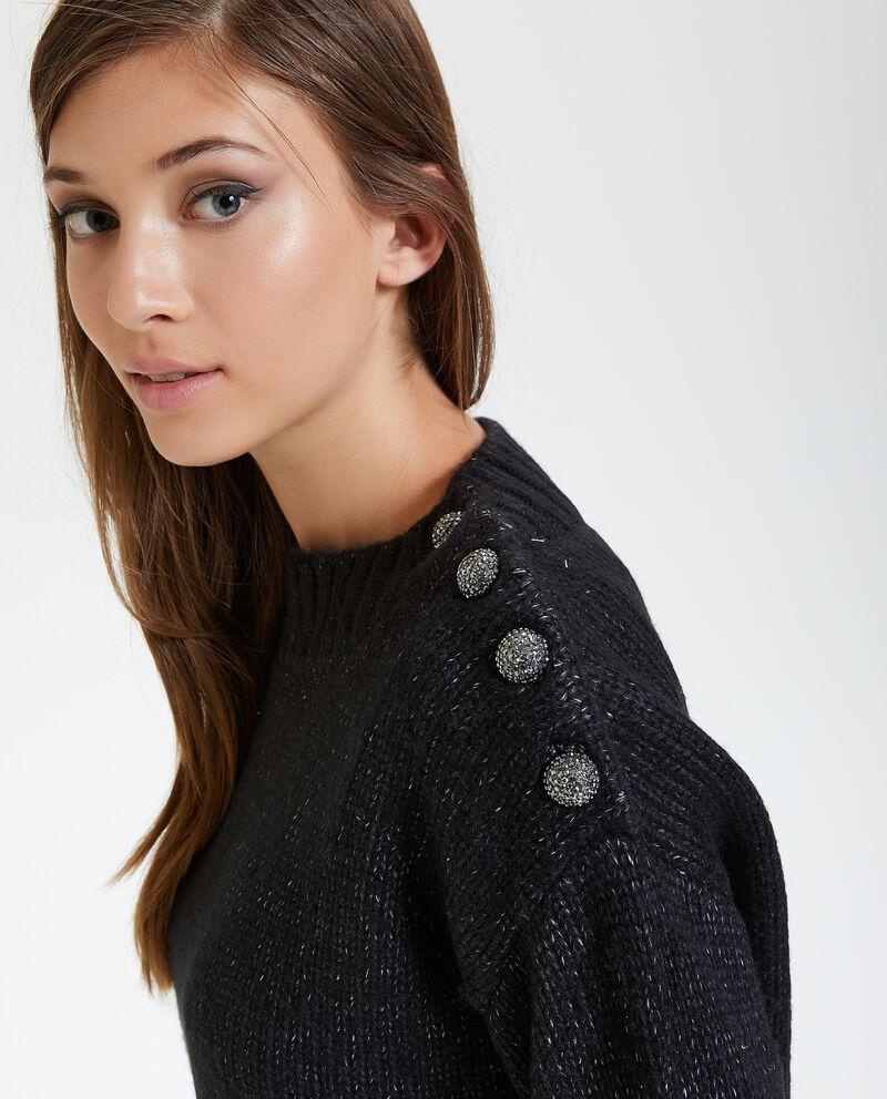 Maglione con inserti in lurex donna