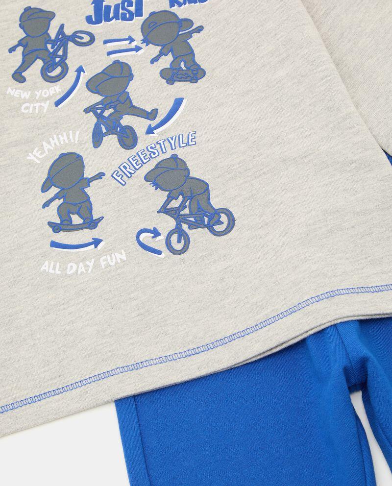 Jogging set con stampa neonato single tile 1
