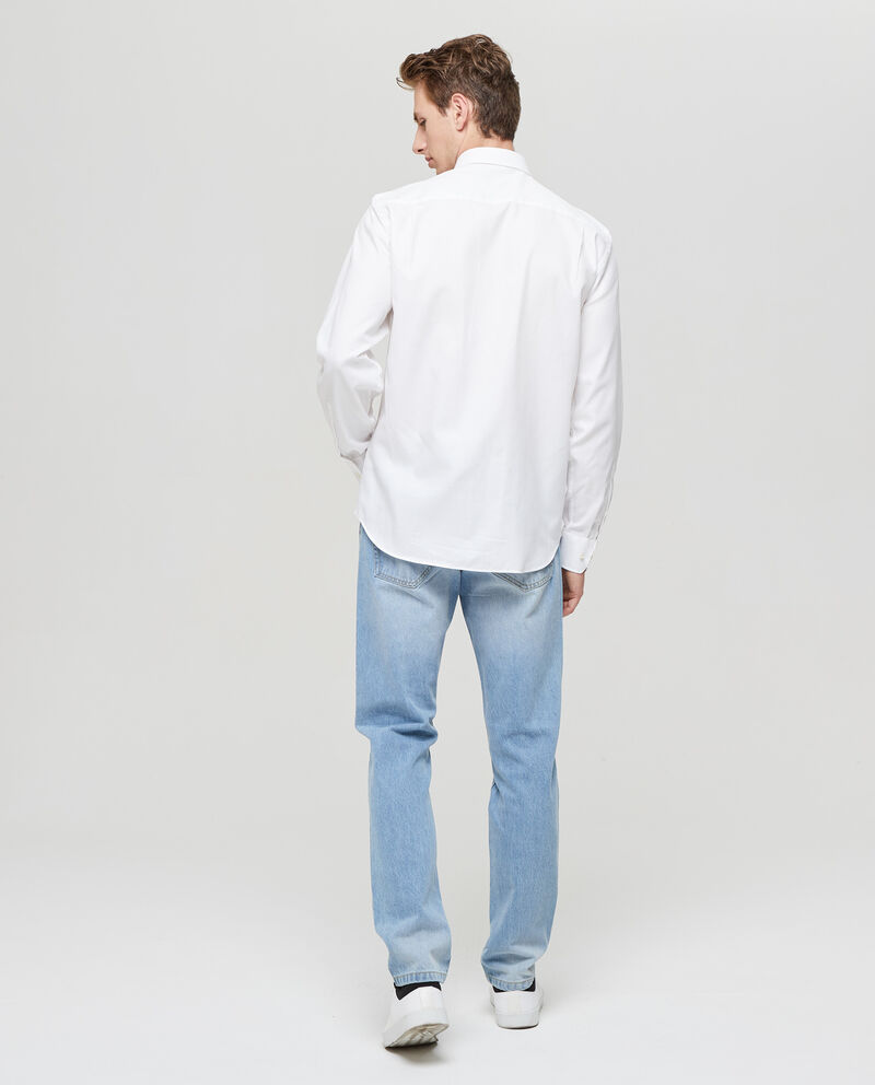 Camicia puro cotone tinta unita
