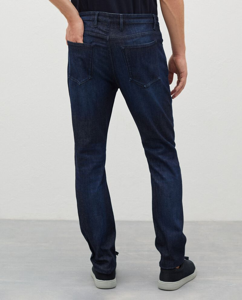 Jeans in cotone stretch regular fit uomo single tile 1