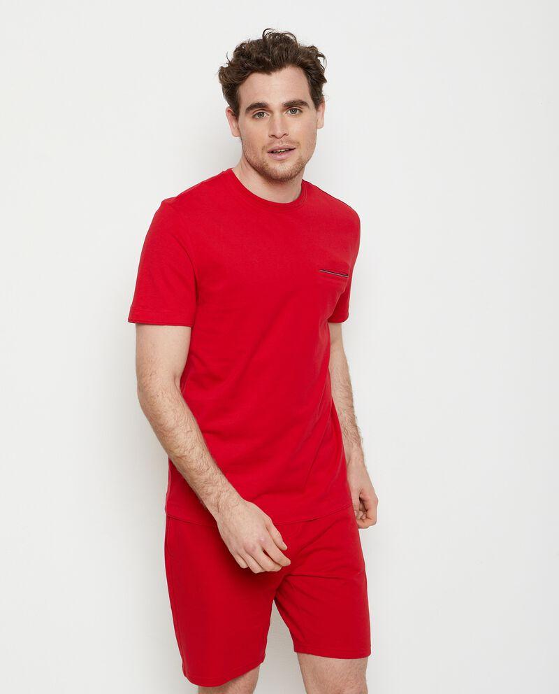 T-shirt con taschino in puro cotone uomo