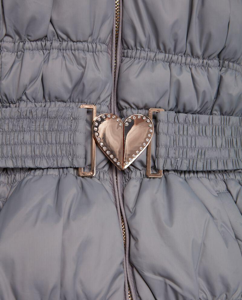 Piumino con cintura ragazza