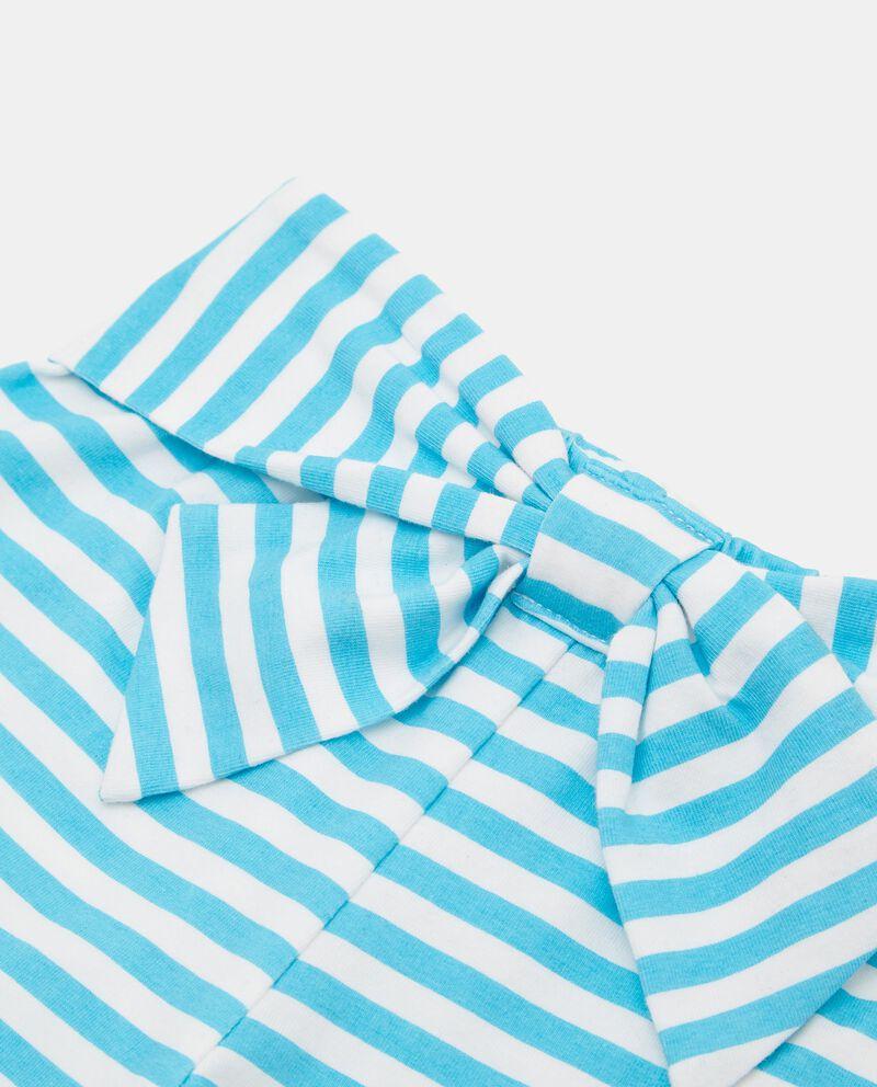 Shorts rigati tinto filo in cotone organico neonatadouble bordered 1