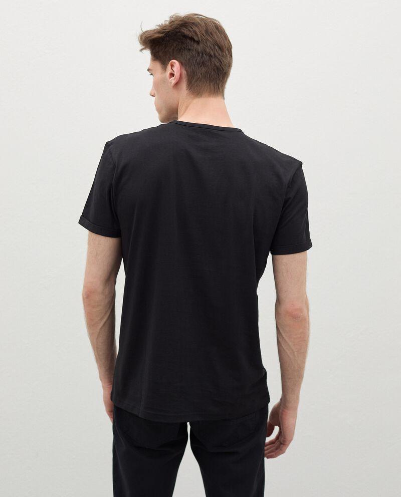 T-shirt con stampa di cotone organico uomo single tile 1