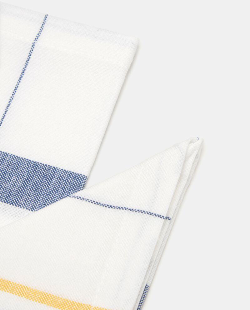 Bipack 2 tovaglioli a quadri in puro cotone