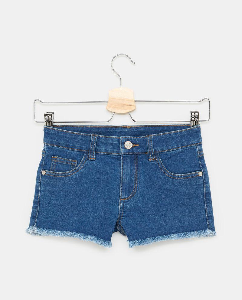 Shorts in denim tasche orlo sfrangiato