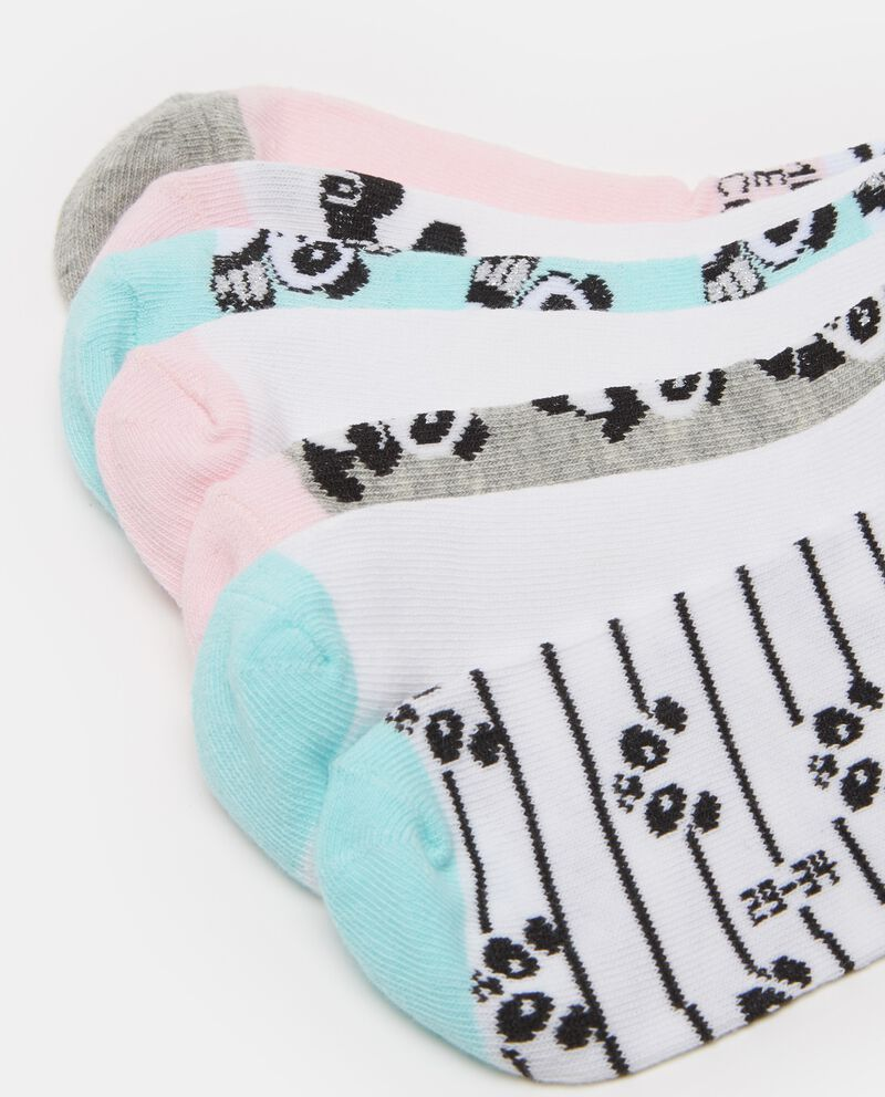 Set sette calze corte stretch panda