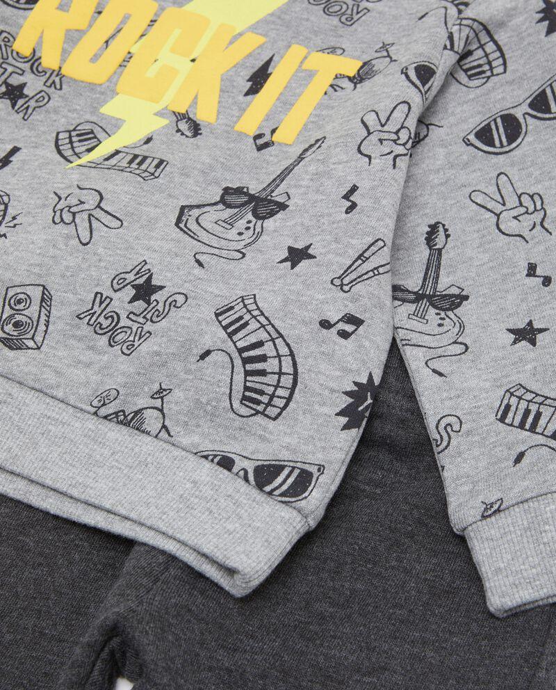 Set con maglia e pantaloni neonatodouble bordered 1