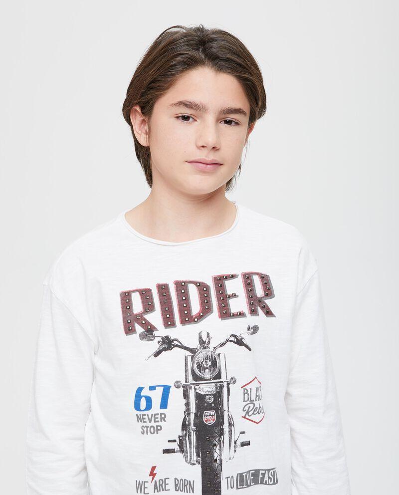 T-shirt puro cotone motocicletta