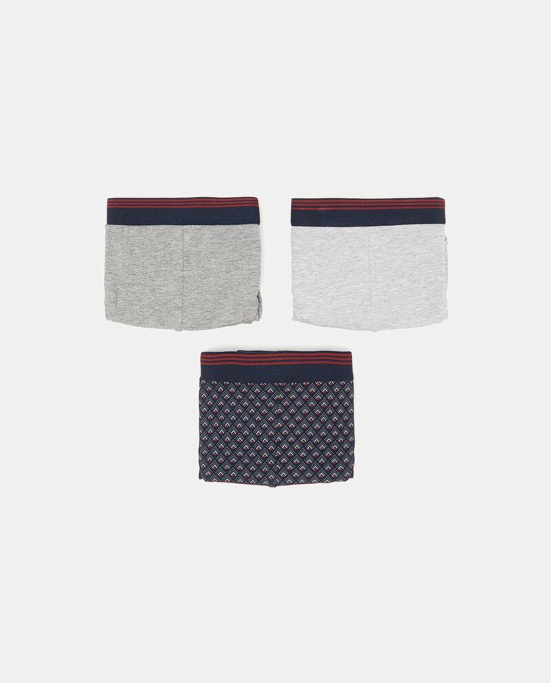 Set con tre slip in cotone elasticato uomo cover