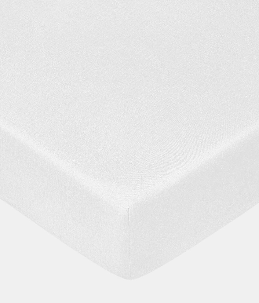 Lenzuola in puro cotone con angoli tinta unita double 1